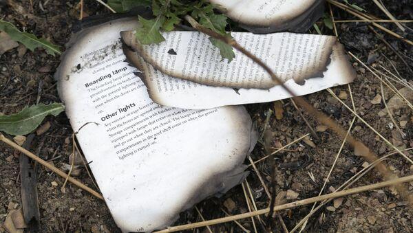 Cuốn sách cháy tại hiện trường vụ chiếc Boeing của Malaysia rơi ở Ukraina - Sputnik Việt Nam