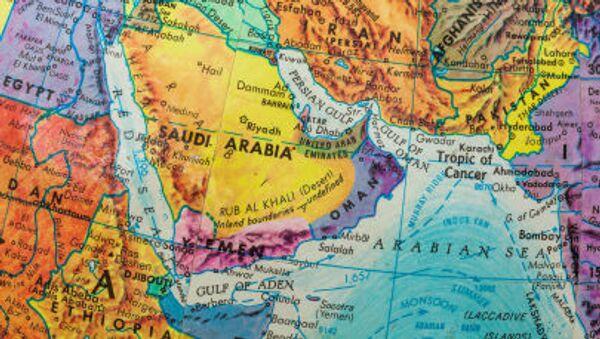 Bản đồ các nước Trung Đông và vùng Vịnh - Sputnik Việt Nam