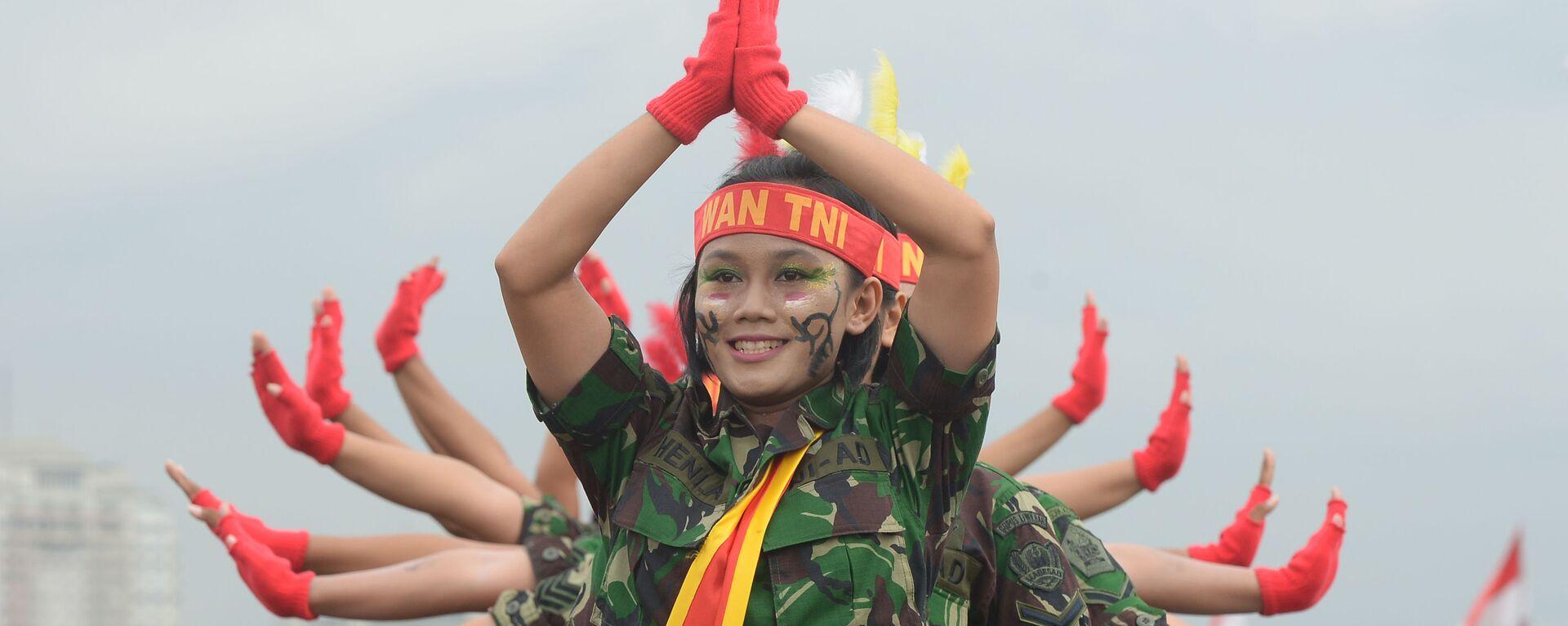 Nữ binh sĩ quân đội Indonesia - Sputnik Việt Nam, 1920, 08.08.2021