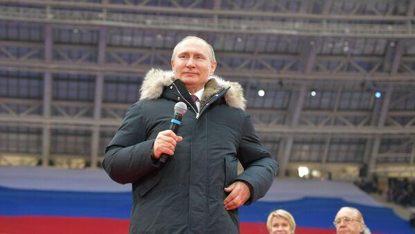 Mit-tinh ở Matxcơva ủng hộ ông Vladimir Putin - Sputnik Việt Nam