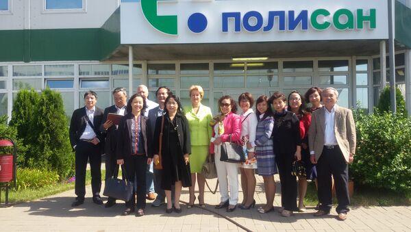 Cuộc gặp của ban quản lý công ty Polysan với đại diện các bệnh viện Việt Nam - Sputnik Việt Nam