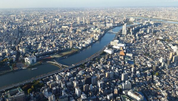 Quang cảnh thành phố Tokyo và sông Sumida ở Nhật Bản - Sputnik Việt Nam
