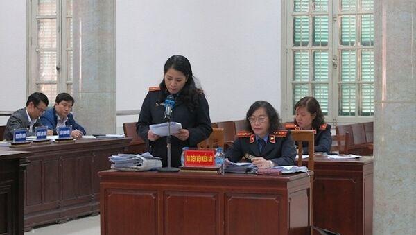 Đại diện VKS đối đáp lại quan điểm của các luật sư - Sputnik Việt Nam