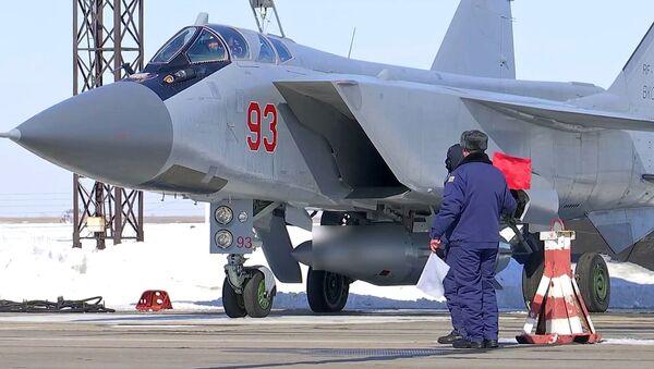 Экипаж истребителя МиГ-31 Воздушно-космических сил России - Sputnik Việt Nam