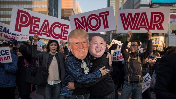 cuộc biểu tình hòa bình ở Seoul - Sputnik Việt Nam