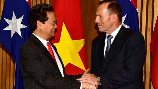 Thủ tướng Nguyễn Tấn Dũng và Thủ tướng Australia Tony Abbott. - Sputnik Việt Nam