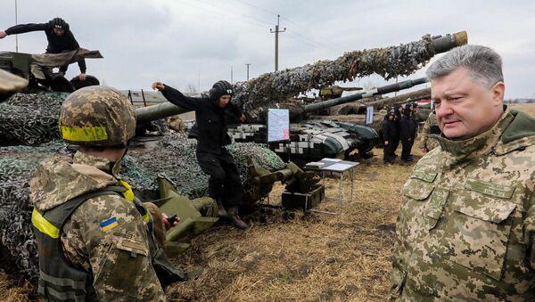 Рабочая поездка президента Украины П. Порошенко в Луганскую область - Sputnik Việt Nam