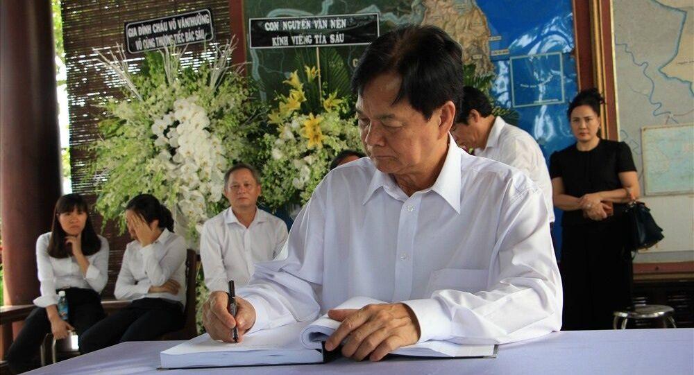 Nguyên Thủ tướng Nguyễn Tấn Dũng viết trong sổ tang cố Thủ tướng Phan Văn Khải.