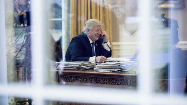 Tổng thống Hoa Kỳ Donald Trump tại Nhà Trắng - Sputnik Việt Nam