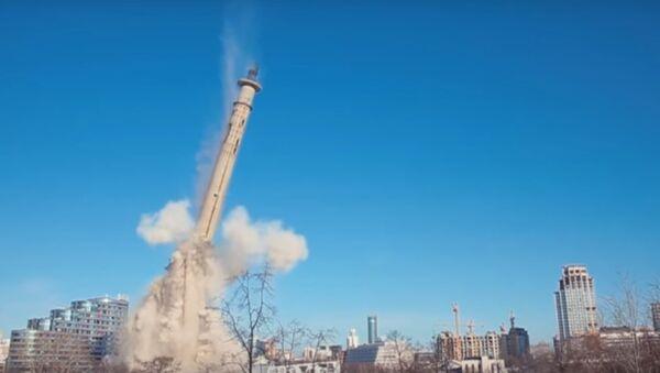 Tháp truyền hình xây dựng dở đã bị phá hủy ở Ekaterinburg - Sputnik Việt Nam