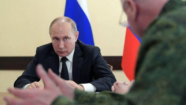 Tổng thống Nga Vladimir Putin đến Kemerovo - Sputnik Việt Nam