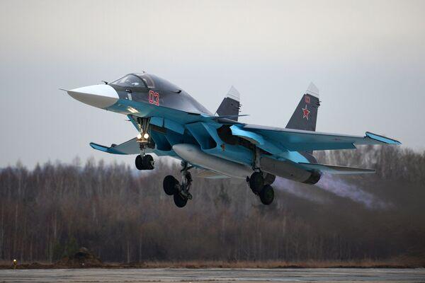 Máy bay tiêm kích- ném bom Su-34 - Sputnik Việt Nam