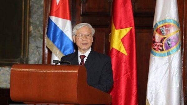 Tổng Bí thư Nguyễn Phú Trọng phát biểu - Sputnik Việt Nam