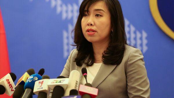 Bà Lê Thị Thu Hằng, người phát ngôn Bộ Ngoại giao Việt Nam. - Sputnik Việt Nam