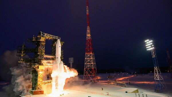 Russia's heavy-lift Angara-A5 rocket before its first orbital launch at the Plesetsk Cosmodrome, Arkhangelsk Region - Sputnik Việt Nam