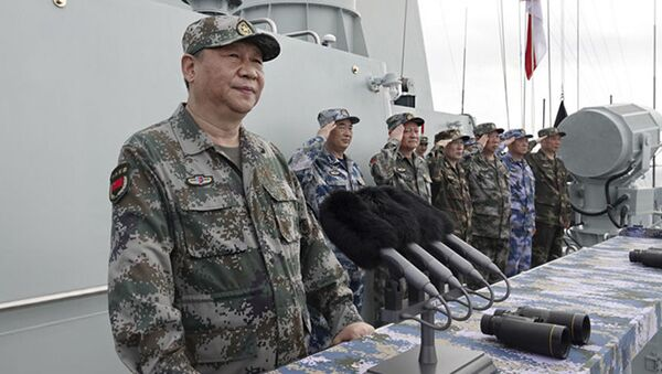 Tập Cận Bình thị sát diễu binh hải quân ở Biển Đông - Sputnik Việt Nam