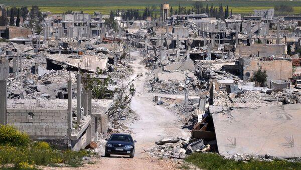 Quang cảnh thành phố Kobane, Syria bị tàn phá - Sputnik Việt Nam
