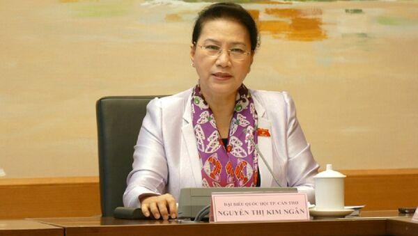 Chủ tịch Quốc hội Nguyễn Thị Kim Ngân bày tỏ quyết tâm làm bằng được Luật Đơn vị hành chính - kinh tế đặc biệt Vân Đồn, Bắc Vân Phong, Phú Quốc - - Sputnik Việt Nam