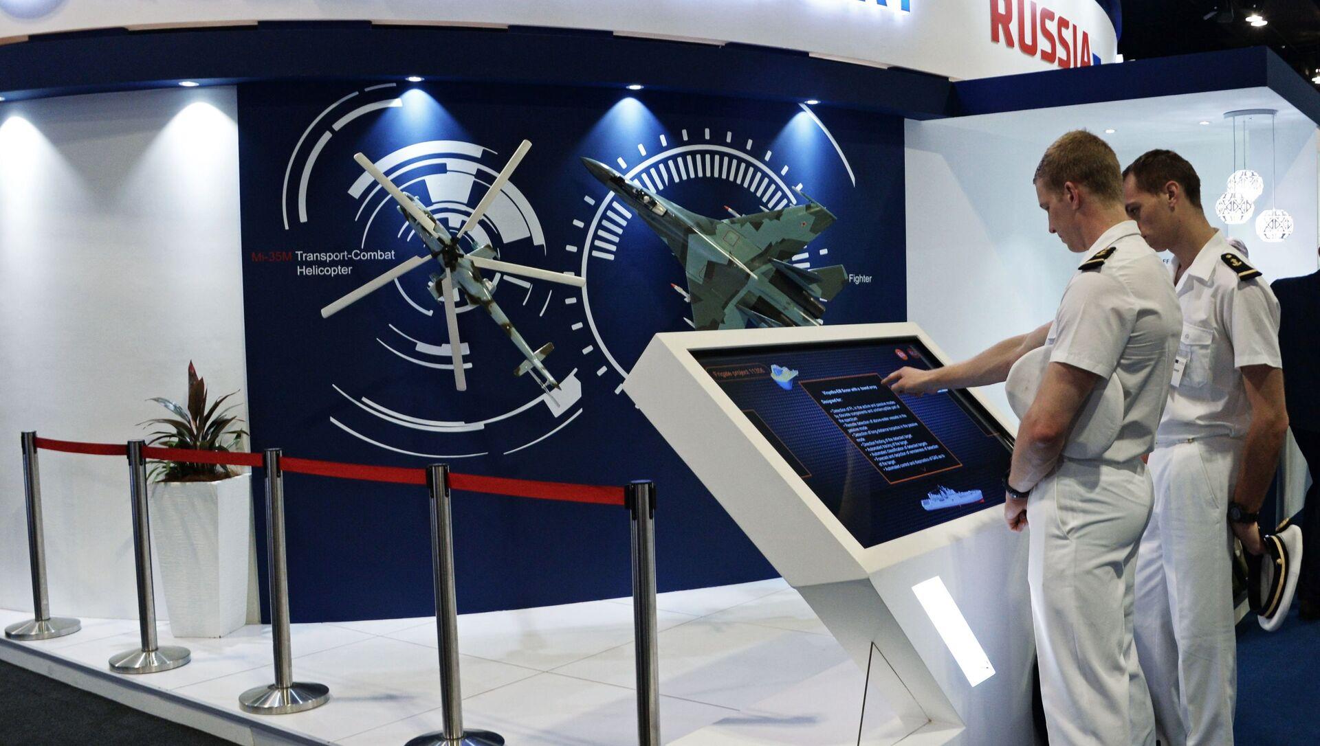 Gian hàng của Rosoboronexport tại triển lãm DSA-2018. - Sputnik Việt Nam, 1920, 05.06.2021