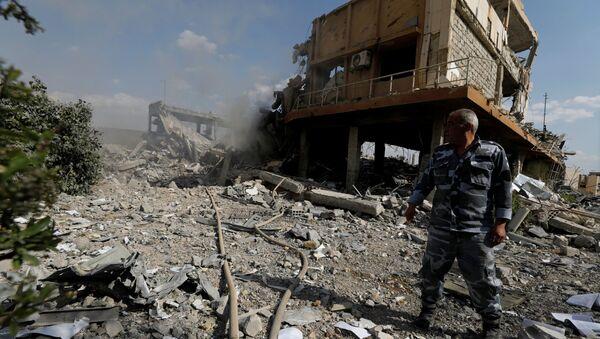 Trung tâm nghiên cứu bị hủy hoại ở Damascus, Syria - Sputnik Việt Nam