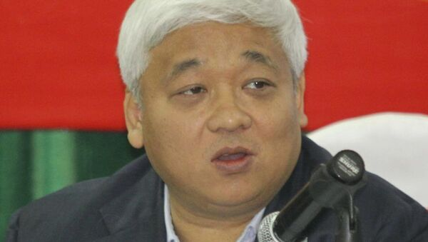 Ông Nguyễn Đức Kiên (Bầu Kiên) uỷ quyền luật sự đọc tâm thư tại đại hội cổ đông của ACB diễn ra sáng nay - Sputnik Việt Nam