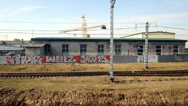 Những hình graffiti dọc tuyến đường sắt tới Peterburg - Sputnik Việt Nam