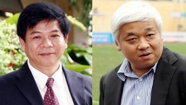 Phạm Trung Cang (trái) và bầu Kiên. - Sputnik Việt Nam