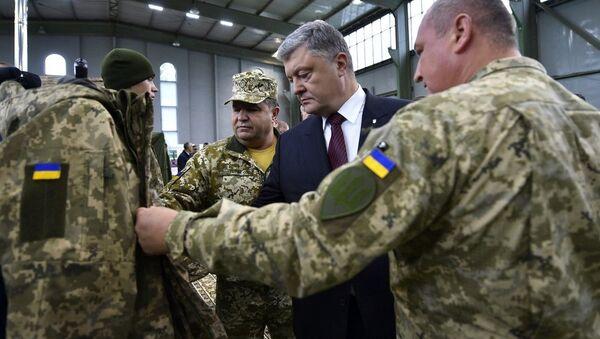Petro Poroshenko và quân đội Ukraina - Sputnik Việt Nam