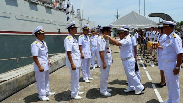 Bộ Tư lệnh Vùng 2 Hải quân Thái Lan đón đoàn công tác Hải quân Việt Nam sang thăm Hải quân Thái Lan - Sputnik Việt Nam