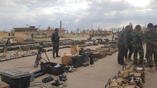 Quân đội Syria nắm giữ được kho vũ khí phong phú của những kẻ khủng bố - Sputnik Việt Nam