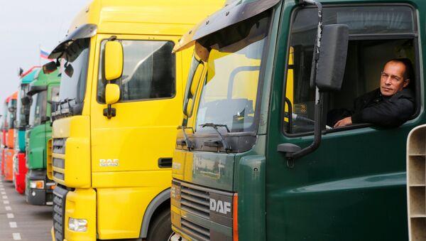 tài xế xe tải - Sputnik Việt Nam