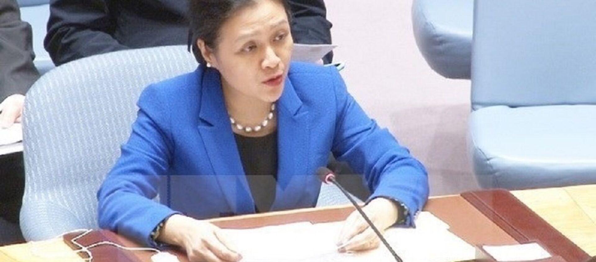 Đại sứ Nguyễn Phương Nga phát biểu tại phiên họp của Liên hợp quốc. (Nguồn: TTXVN) - Sputnik Việt Nam, 1920, 08.07.2017