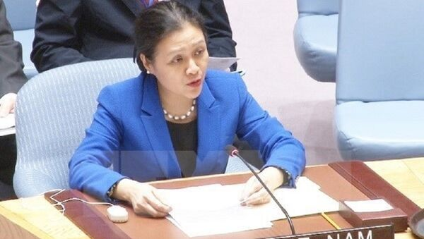 Đại sứ Nguyễn Phương Nga phát biểu tại phiên họp của Liên hợp quốc. (Nguồn: TTXVN) - Sputnik Việt Nam