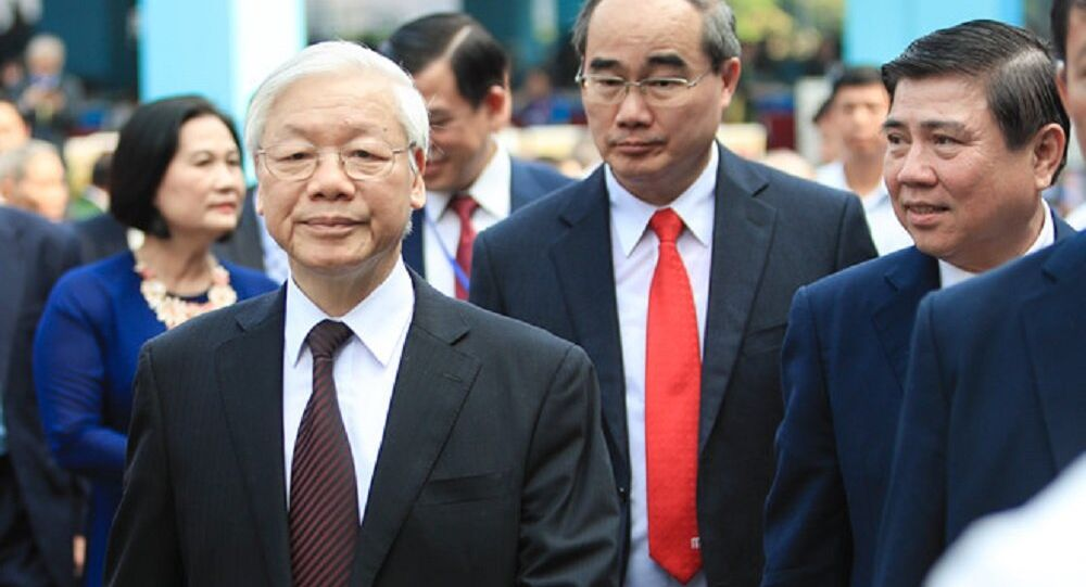 Tổng Bí thư Nguyễn Phú Trọng và Bí thư Nguyễn Thiện Nhân