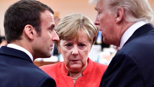 Emmanuel Macron, Angela Merkel, Donald Trump - Sputnik Việt Nam