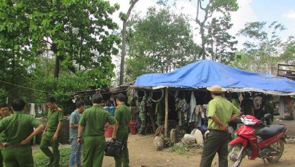 Lán trại của Phượng râu nằm gần đồn Biên phòng 747 - Sputnik Việt Nam