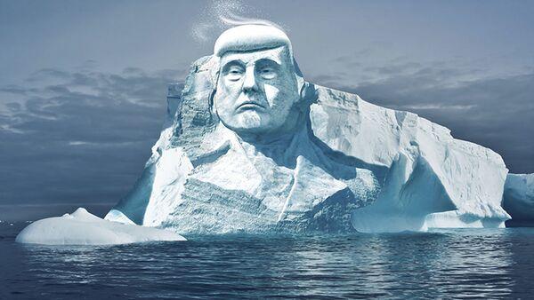 Đầu Trump bằng băng cao 35 mét sẽ tan chảy ở Bắc Cực - Sputnik Việt Nam