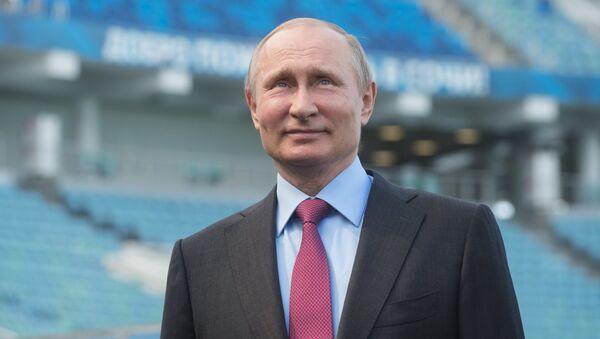 Tổng thống Vladimir Putin tại SCĐ Fisht tại Sochi - Sputnik Việt Nam
