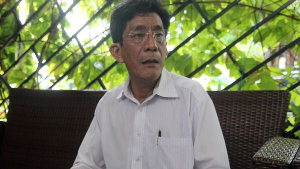 Ông Lê Văn Lung, đại diện cho nhóm 71 hộ dân khiếu kiện về vấn đề tranh chấp đất ở Thủ Thiêm - Sputnik Việt Nam