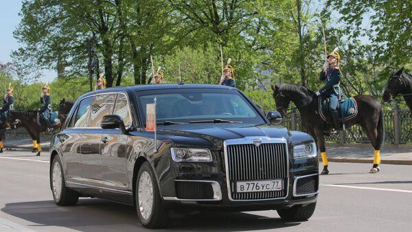 Lễ tuyên thệ nhậm chức của Tổng thống Nga Vladimir Putin. Xe Aurus của Tổng thống Nga Vladimir Putin. - Sputnik Việt Nam