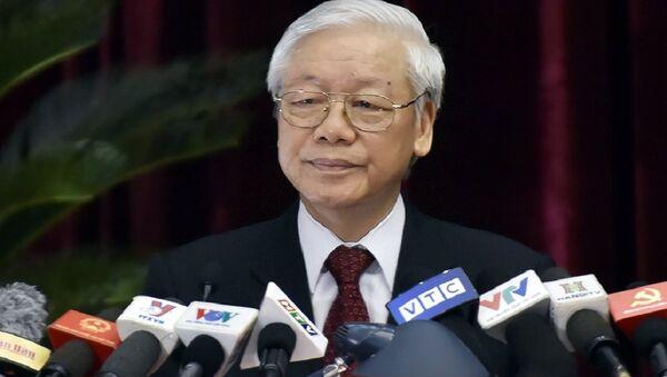 Tổng Bí thư Nguyễn Phú Trọng phát biểu khai mạc Hội nghị. - Sputnik Việt Nam