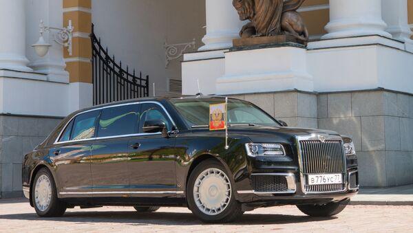 Xe Aurus của Tổng thống Liên bang Nga trên lãnh thổ Kremlin - Sputnik Việt Nam