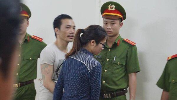 Hình ảnh Thọ sứt và bạn gái sau khi tuyên án. - Sputnik Việt Nam