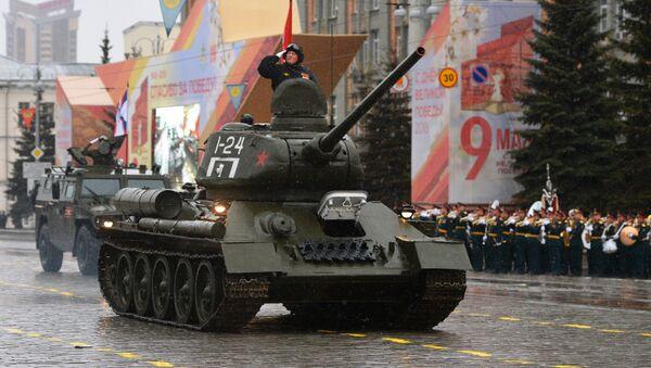 Diễu binh kỷ niệm 73 năm Chiến thắng trong Chiến tranh Vệ quốc Vĩ đại 1941-1945 tại Ekaterinburg - Sputnik Việt Nam
