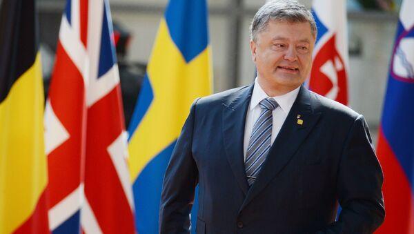 Президент Украины Петр Порошенко во время встречи с председателем Европейского совета Дональдом Туском в Брюссел - Sputnik Việt Nam