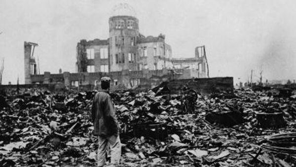 Cảnh hoang tàn sau trận ném bom ở Hirosima - Sputnik Việt Nam