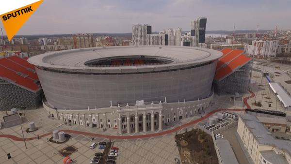 Sân vận động Ekaterinburg Arena nhìn từ trên cao - Sputnik Việt Nam