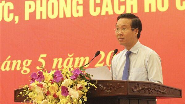 Ông Võ Văn Thưởng - Ủy viên Bộ Chính trị, Bí thư Trung ương Đảng, Trưởng Ban Tuyên giáo Trung ương - Sputnik Việt Nam