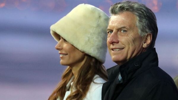 Tổng thống Argentina Mauricio Macri và vợ Juliana Awada - Sputnik Việt Nam