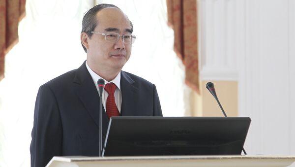 Ủy viên Bộ Chính trị Trung ương Đảng Cộng sản Việt Nam, bí thư Đảng bộ thành phố Hồ Chí Minh Nguyễn Thiện Nhân - Sputnik Việt Nam